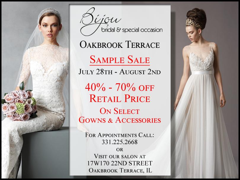 Sample Sale Bijou Bridal Oakbrook Terrace Il Bijou Bridal