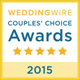2015 Couples Choice Award on WeddingWire