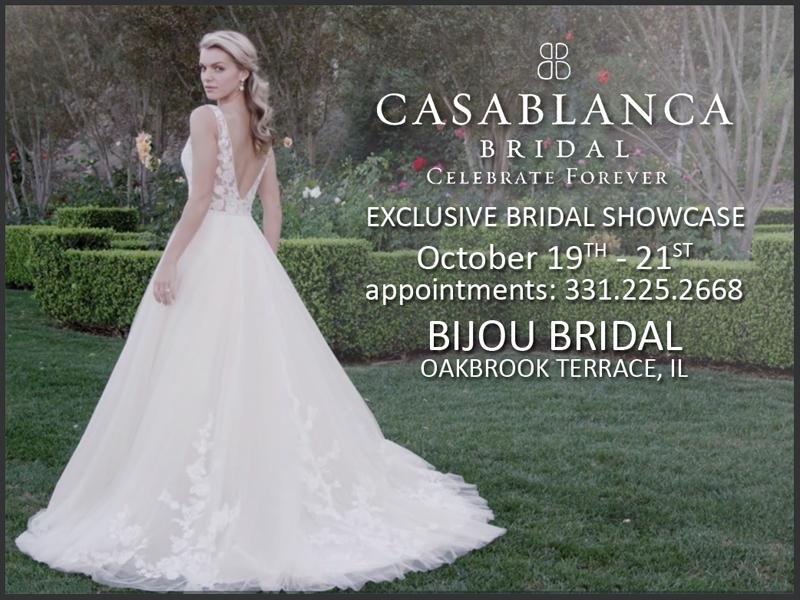 Casablanca Bridal Event Bijou Bridal Oakbrook Terrace Il Bijou