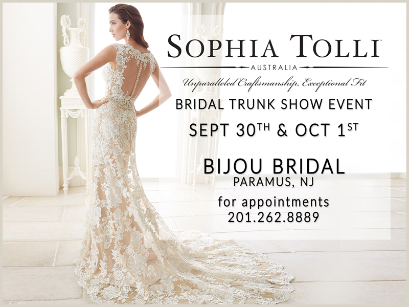 Sophia Tolli Fall 2016 Trunk Show Bijou Bridal New Jersey